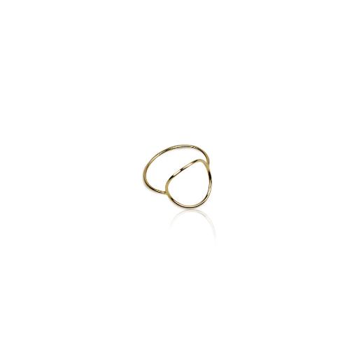 Anel De Ouro 18k Dourado Oval | Linha Ouro Sabrina Joias