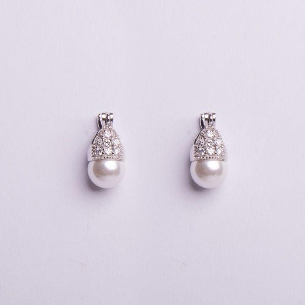 Semi Joias Par de Brinco Lady pérola de prata