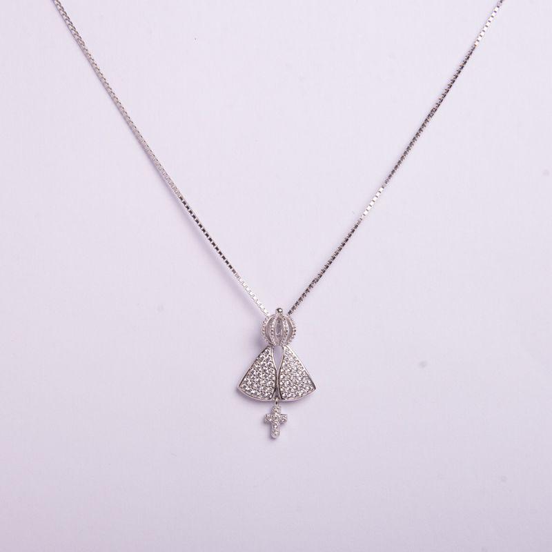 Semi Joias Colar em prata 925 Nossa Senhora
