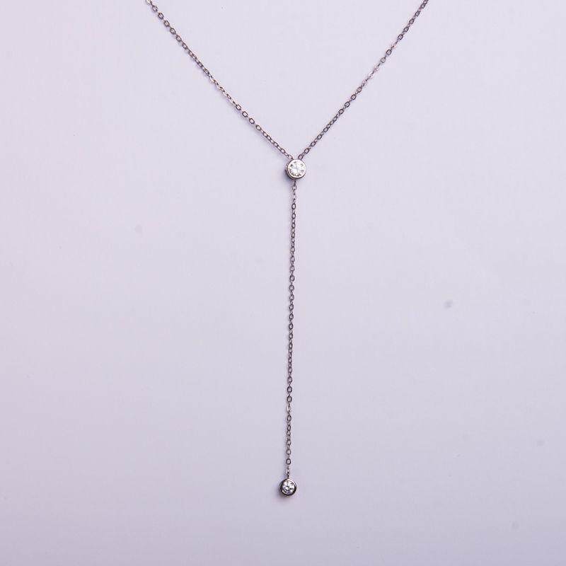 Semi joias Colar gravatinha em ródio negro