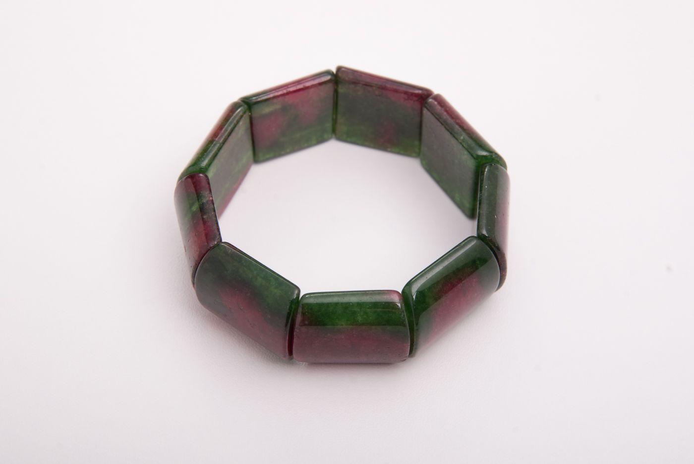 Pulseira semi jóia de Jade Melancia