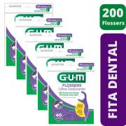 200 Flossers (fita dental com cabo)