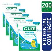 200 Flossers Multipla Ação (fio Dental Com cabo) - GUM
