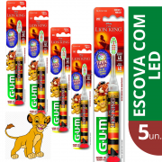 5 x Escova Dental Infantil Disney Lion King c/Led (Rei Leão)