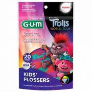 Fio Dental Infantil com Cabo Trolls - 20 unid