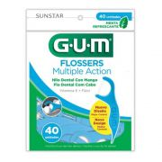 Flosser - Fio Dental com Cabo - Multiple Action (GUM) 40 Un