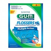 Flosser - Fio Dental com Cabo - Multiple Action (GUM) 60 Un