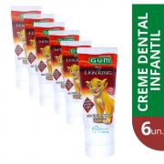 Gel Dental Rei Leão c/ Flúor - 6 unidades (Lion King)