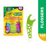 GUM - Combo 4x Flosser Crayola ( 160 un)