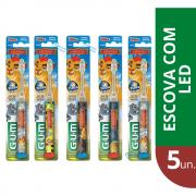 GUM - Combo Escova LION Com Led ( 5 unidades)