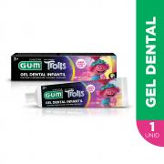 Gel Dental Infantil Trolls | 50 grs |GUM® | 1.100ppm Flúor
