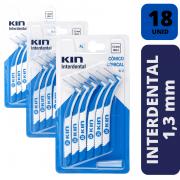 KIN - KIT 3X INTERDENTAL CONICO 1,3 MM - AZUL