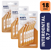 KIN - KIT 3X INTERDENTAL SUPERMICRO 0,7 MM - LARANJA