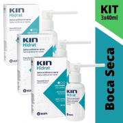 Kit Saliva Artificial - KIN Hidrat Spray - 3 Unidades