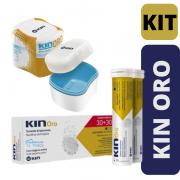 KIN ORO - Pastilha + Caixa para limpeza de Prótese ou Aparelho Móvel