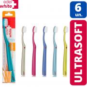 Kit - 6x Escova Dental ULTRA Soft - Edel White