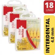 KIT Escova Interdental Amarela | 4.0mm | 18 unidades | Edel White