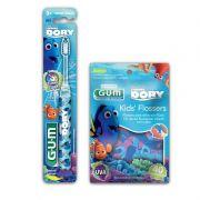 Kit Infantil DORY  (40 flossers GUM + 1 escova dental com LED)