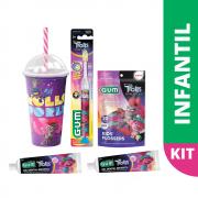 Kit Infantil Trolls GUM® | Edição Limitada
