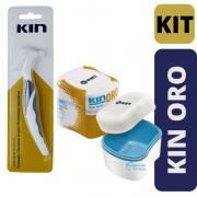 KIT KIN ORO - Escova +Estojo de Prótese/Dentadura