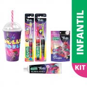 Kit Infantil Master Trolls GUM® | Edição Limitada