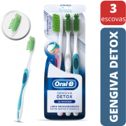 Escova Dental Detox - Oral B - 3 Unidades