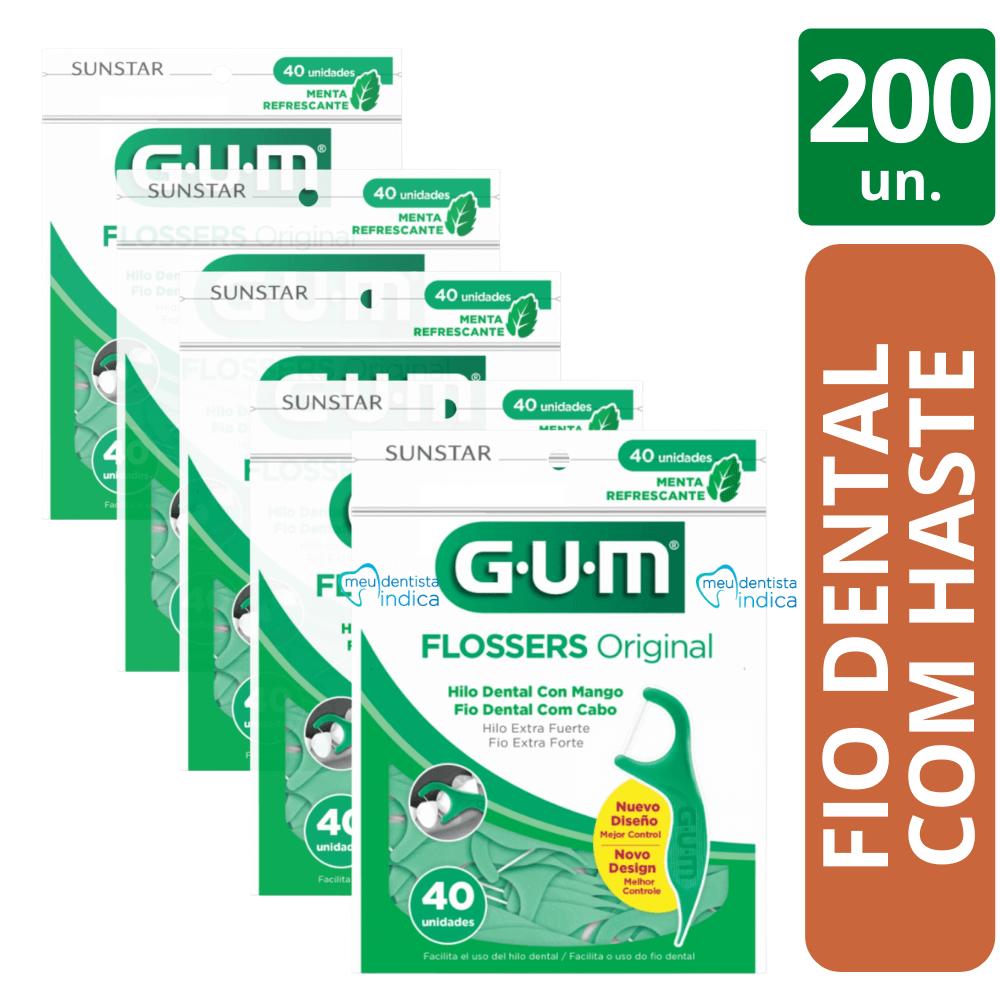 200 Flossers Original (fio Dental Com cabo) - GUM
