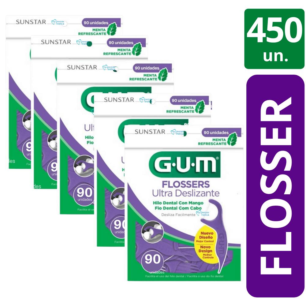 450 Flossers Ultra Deslizante (fita dental com cabo)
