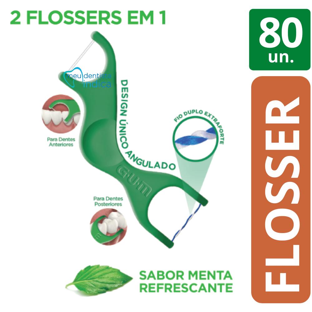 80 Flossers Dual Technique GUM: 2 em 1