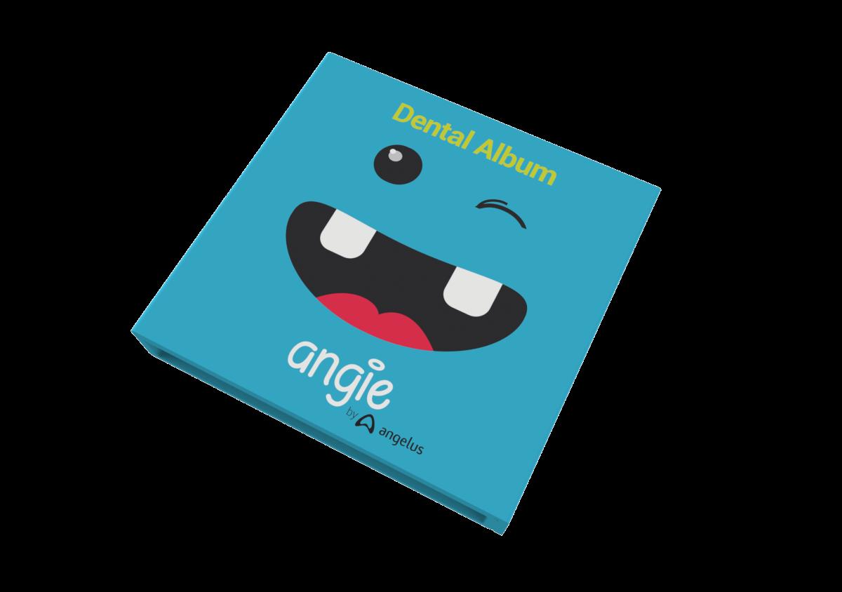 Angie - Estojo + Album para dente-de-leite - AZUL