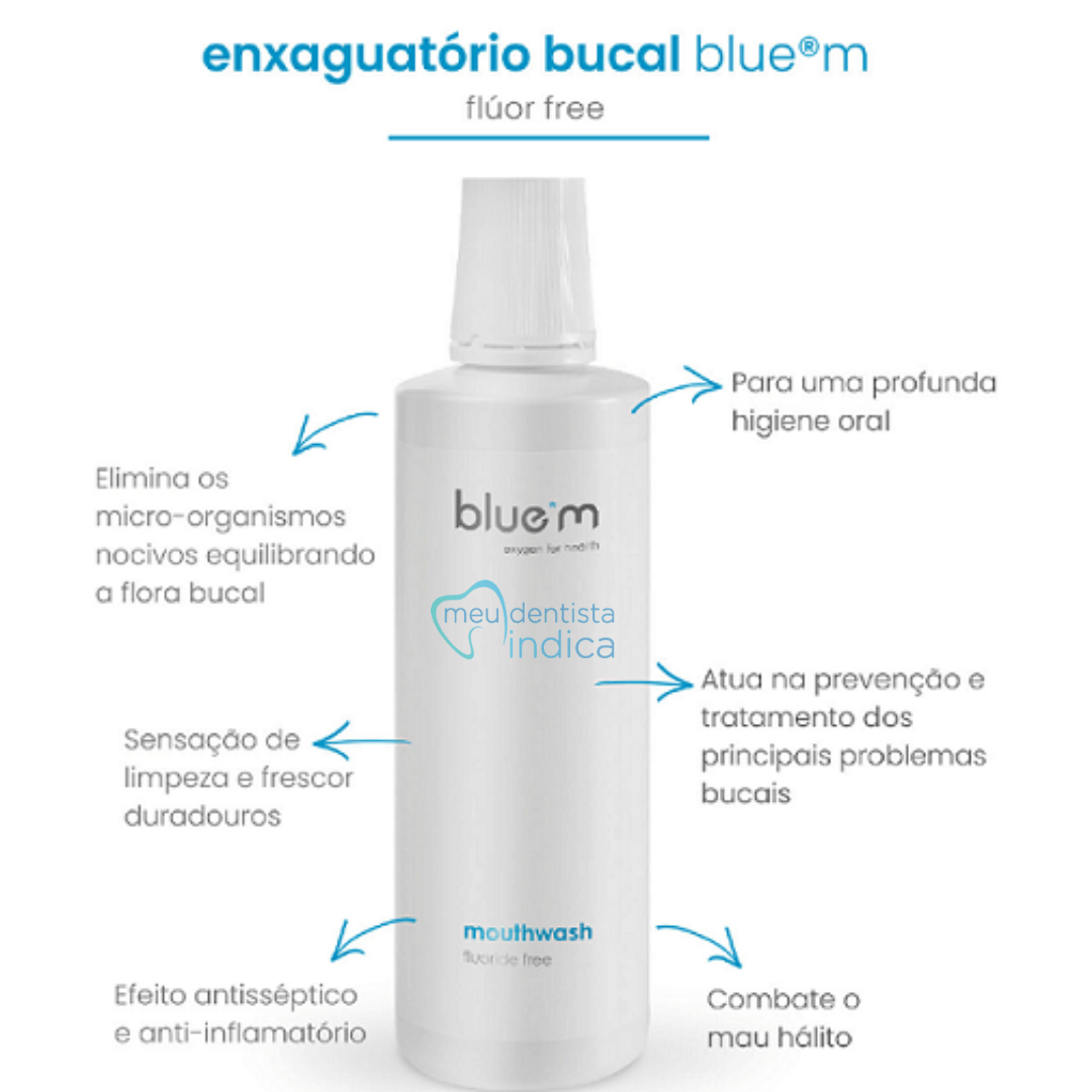 BLUE M - Mini Enxaguatorio Bucal - 50ml