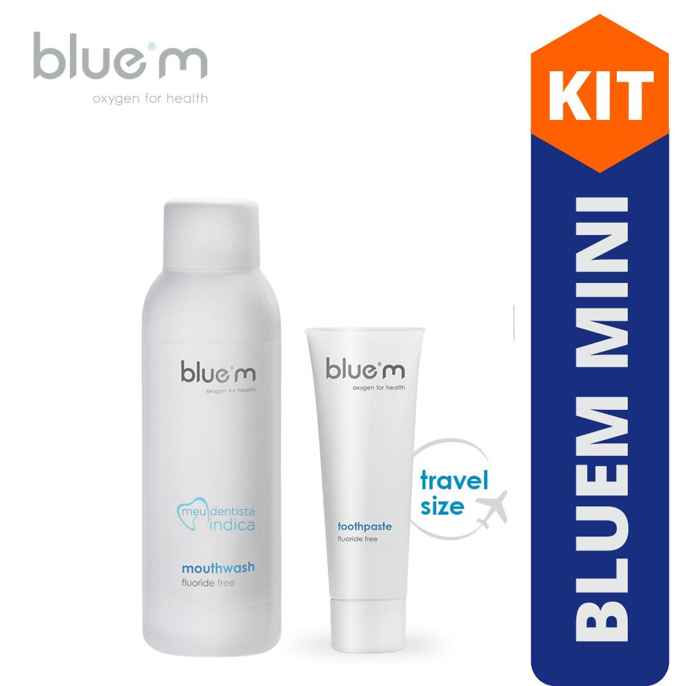 Blue M - Mini Kit Creme Dental + Enxaguatório