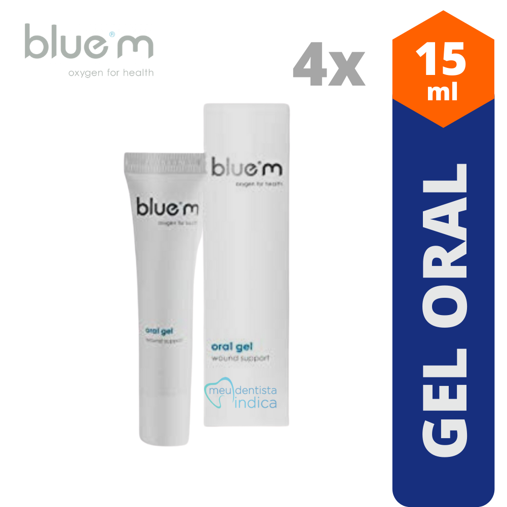 BLUE M - Combo Gel Oral 15 ml - 4 unidades
