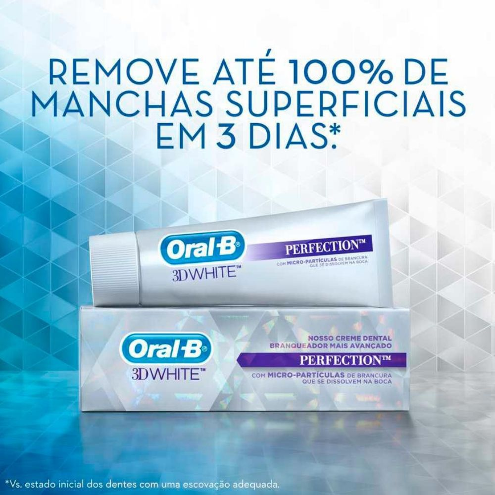 Combo Creme Dental 3D White Perfection 102g - Oral B - 4 unidades