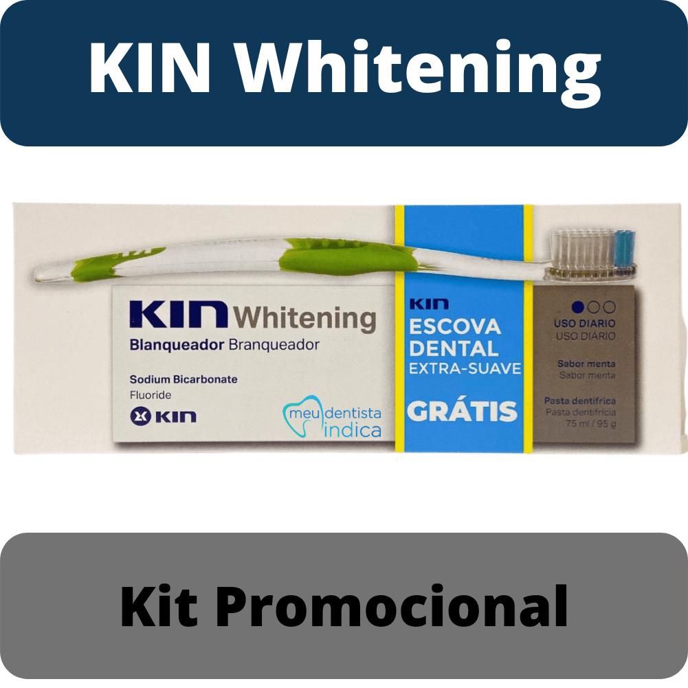 Creme Dental Branqueador - KIN Whitening 95grs + Escova Extra Suave (KIN)