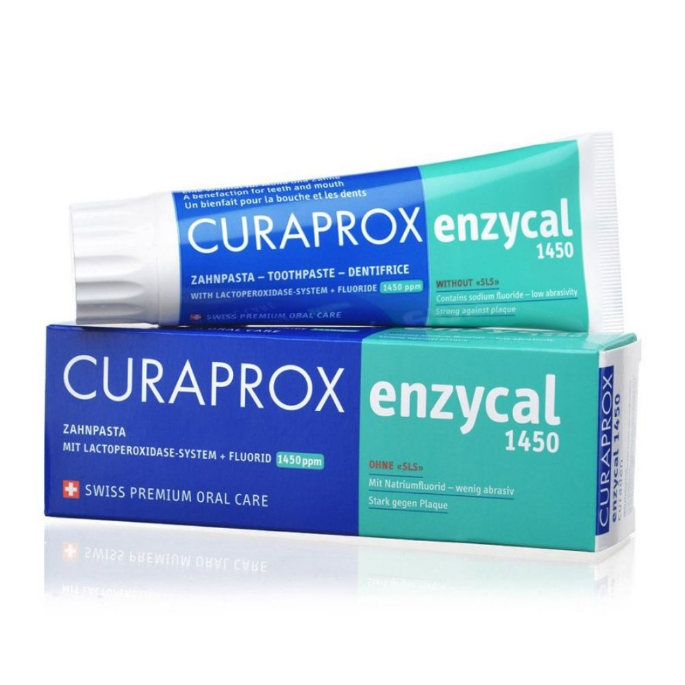 Creme Dental Curaprox  Enzycal 1450 - 90grs