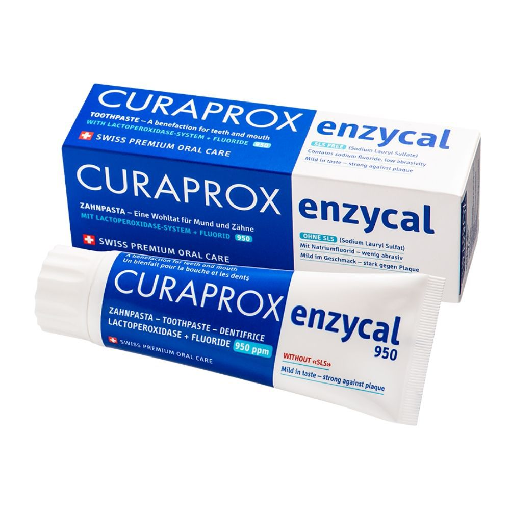 Creme Dental Curaprox  Enzycal 950 - 90g/75ml