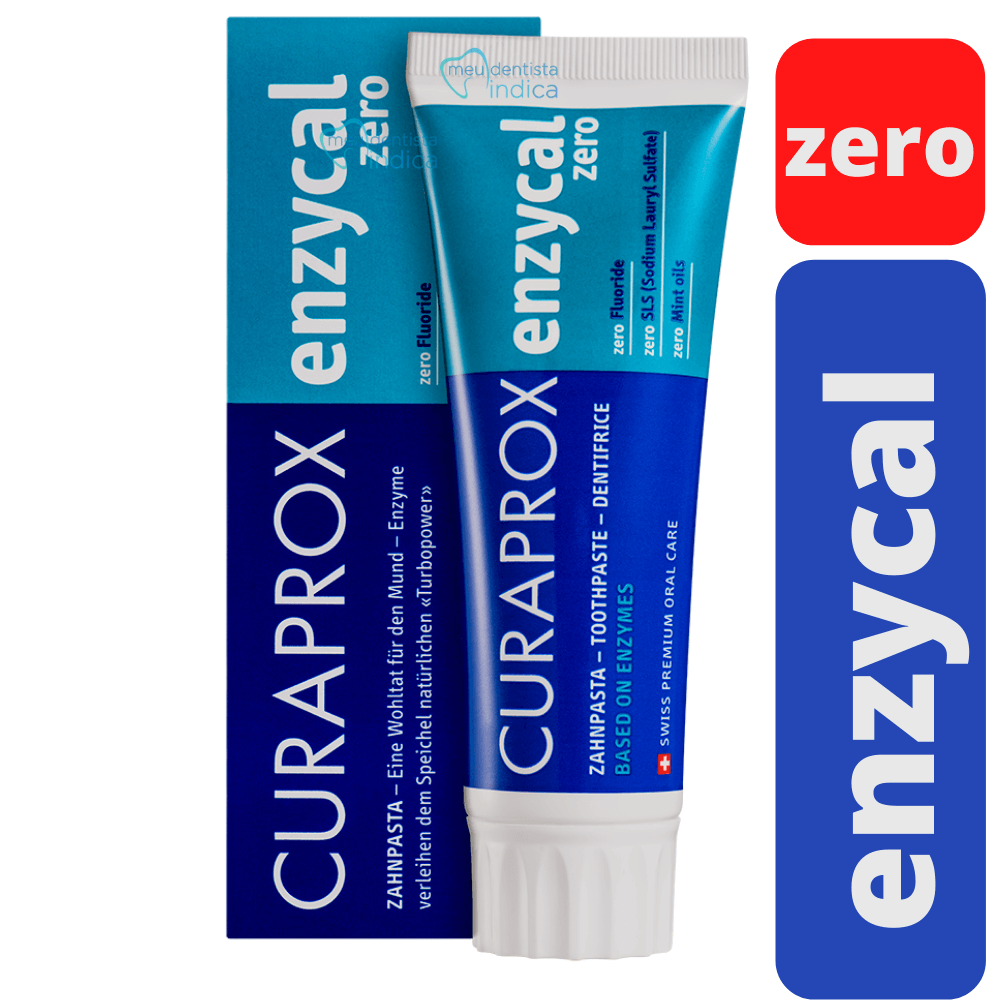 Creme Dental Curaprox  Enzycal Zero - 90g/75ml
