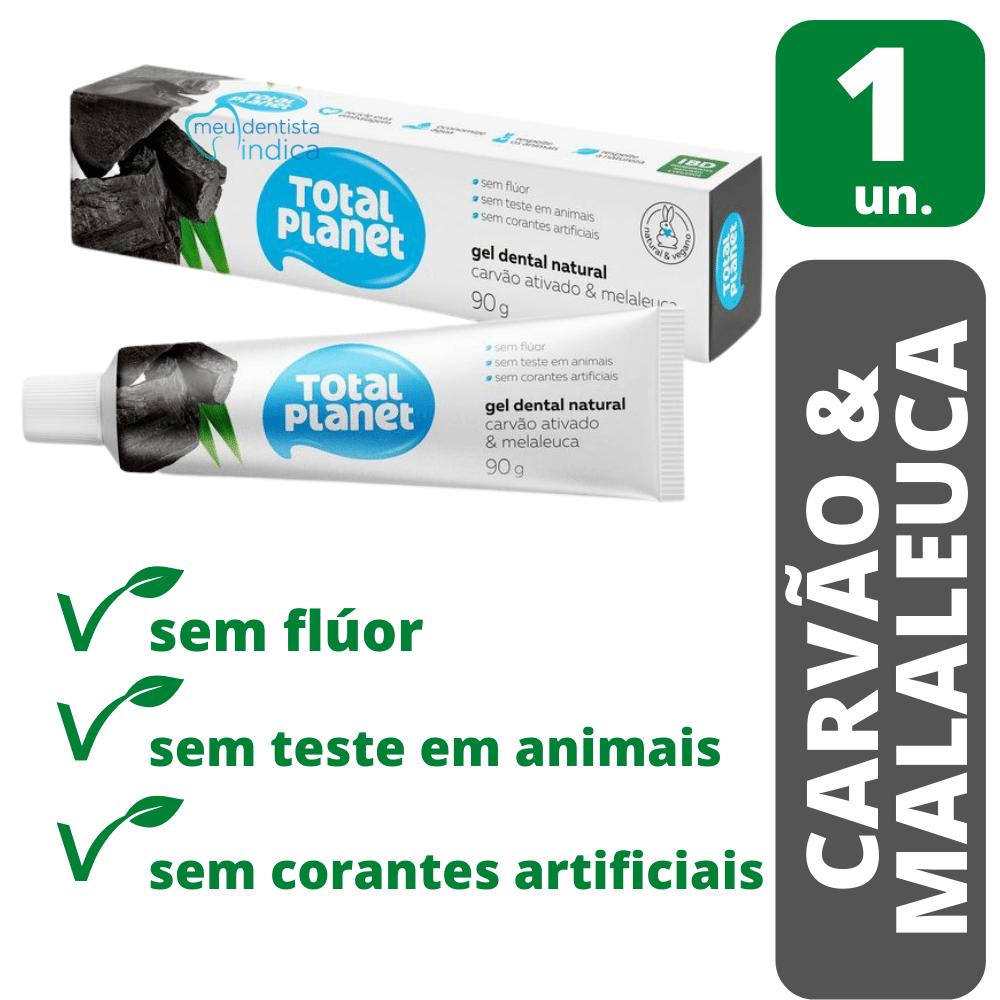 Creme Dental Natural Carvão Ativado e Malaleuca 90g - Natural & Vegano