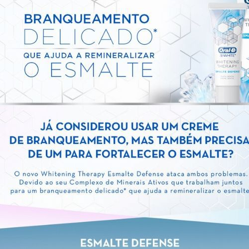 Creme Dental Oral B Whitening Therapy  Esmalte - 103g