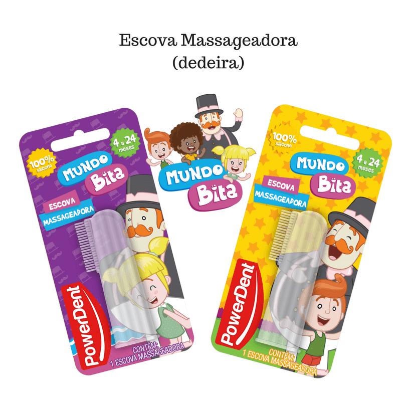Dedeira - Escova Massageadora para bebês - Mundo Bita - 1 Unidade