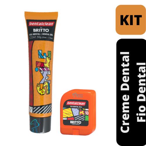 Gel Dental 50g + Fio Dental 25m |Romero Britto - Dental Clean