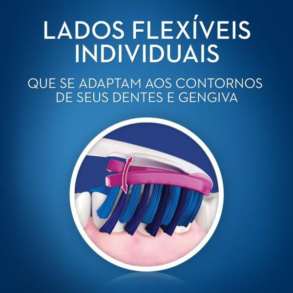 Escova Dental 3D White Luxe Pro-Flex - Oral B - 2 unidades