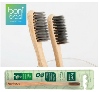 Escova Dental de bambu - Boni Natural