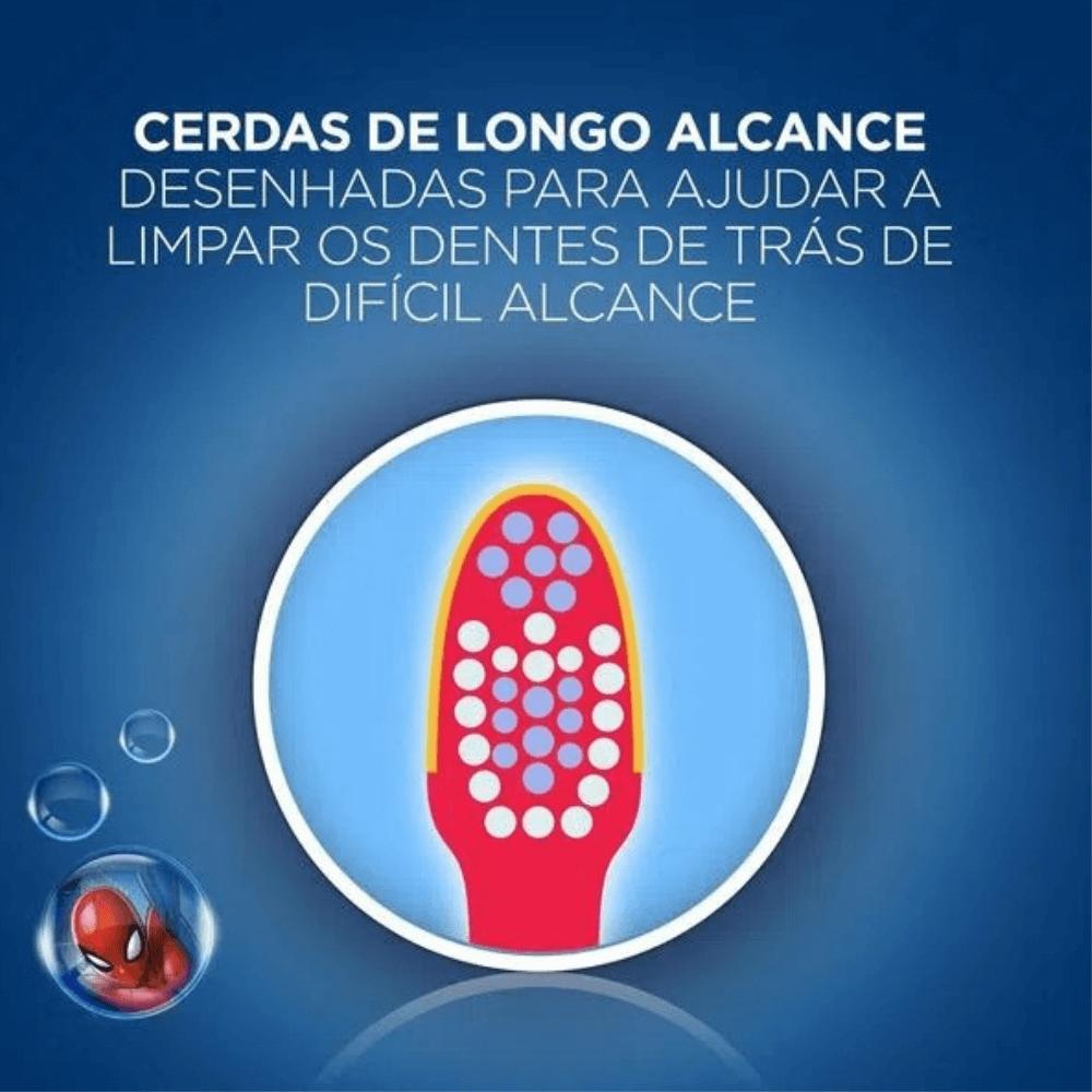 Escova Dental Infantil OralB Stages 3+ Homem Aranha