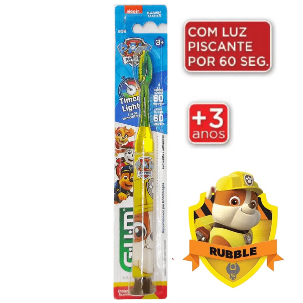 Escova Dental Infantil Patrulha Canina c/ LED