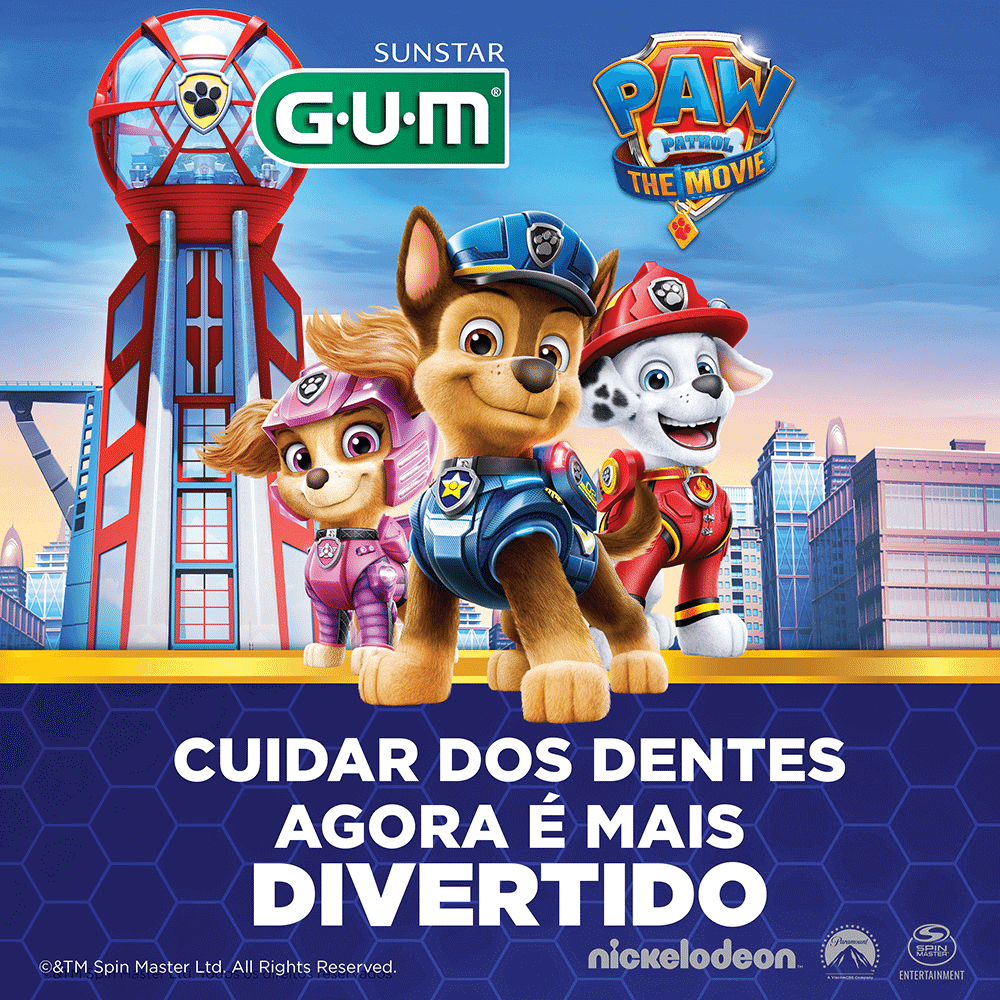 Escova Dental Infantil Patrulha Canina | GUM | 2 unidades