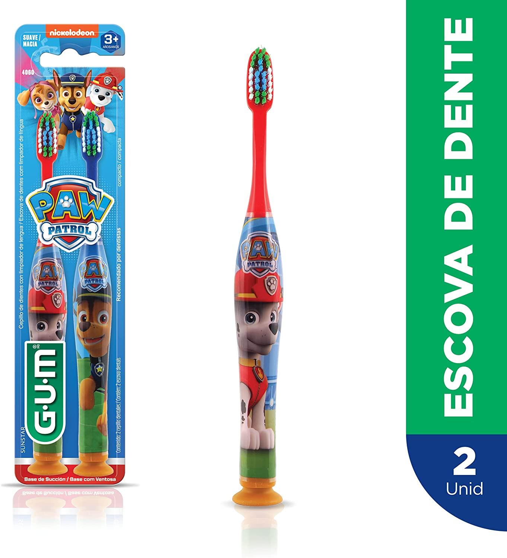 Escova Dental Infantil Patrulha Canina   GUM   2 unidades
