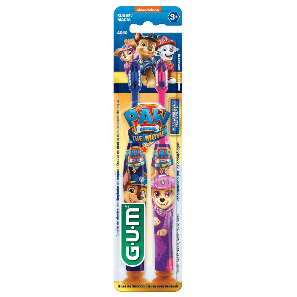 Escova Dental Infantil Patrulha Canina O Filme | GUM | 2 unidades | Edição Limitada