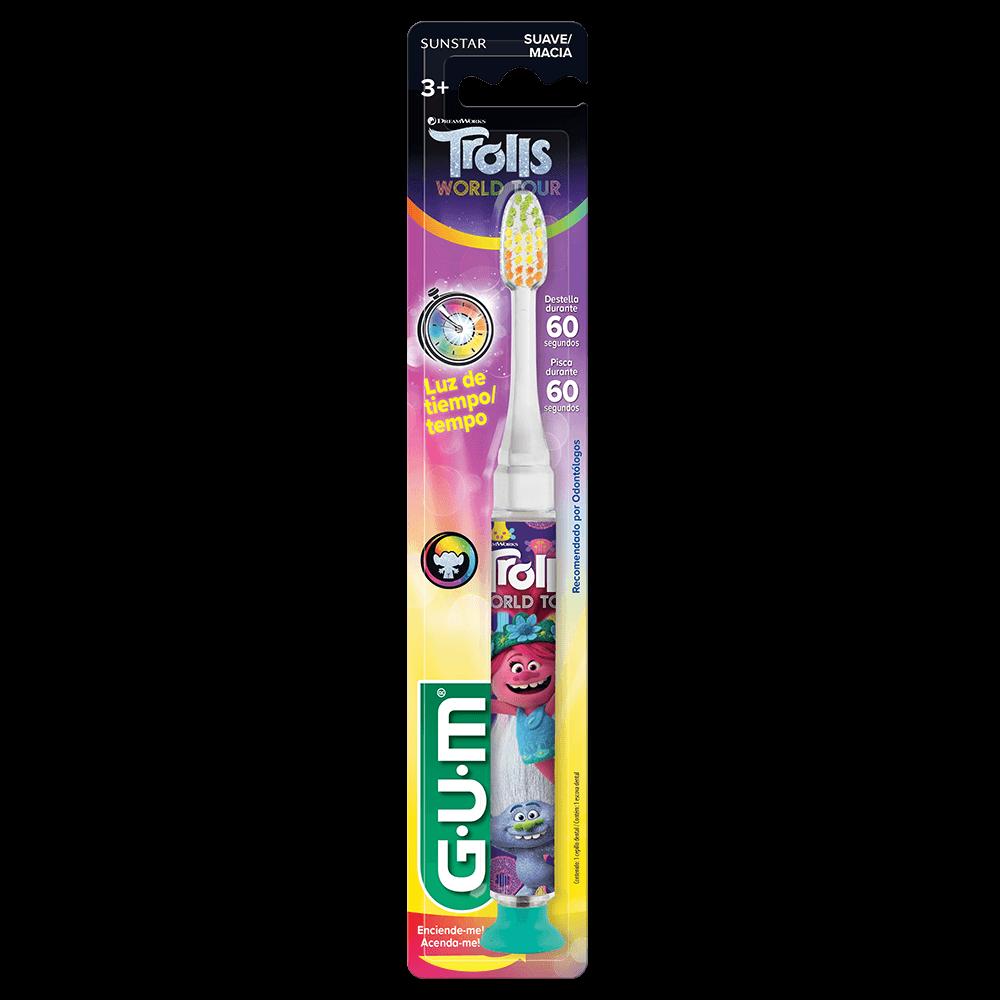 Escova Dental Infantil Trolls com Luz  GUM®   1 unidade